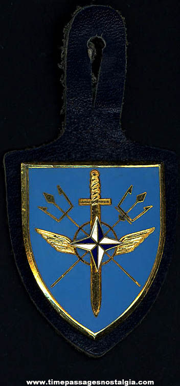 Old Enameled N.A.T.O. AEW Early Warning Military Badge