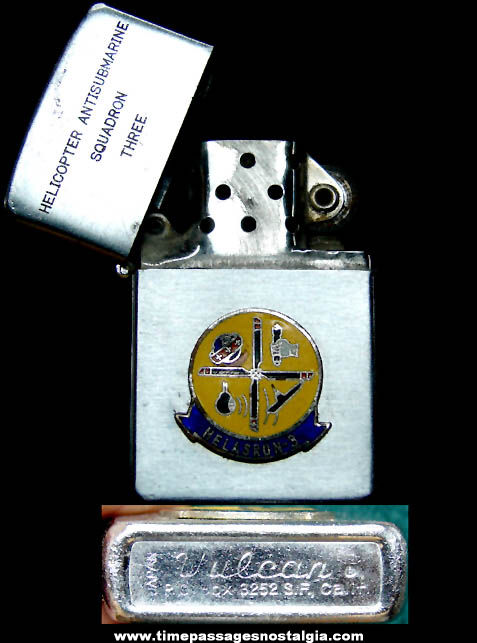 Old Helicopter Antisubmarine Squadron Three Military Vulcan Cigarette Lighter