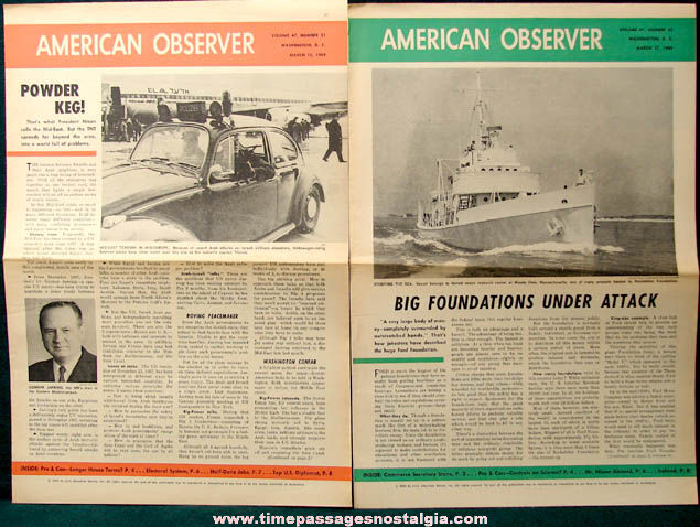 (19) 1968 - 1969 American Observer & Weekly News Review Newspapers