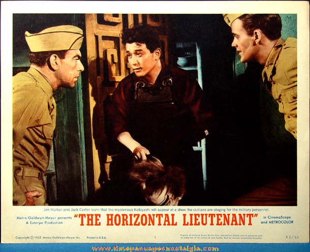 Colorful ©1962 The Horizontal Lieutenant Movie Lobby Card Poster