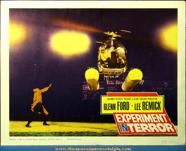 Colorful ©1962 Experiment In Terror Movie Lobby Card Poster