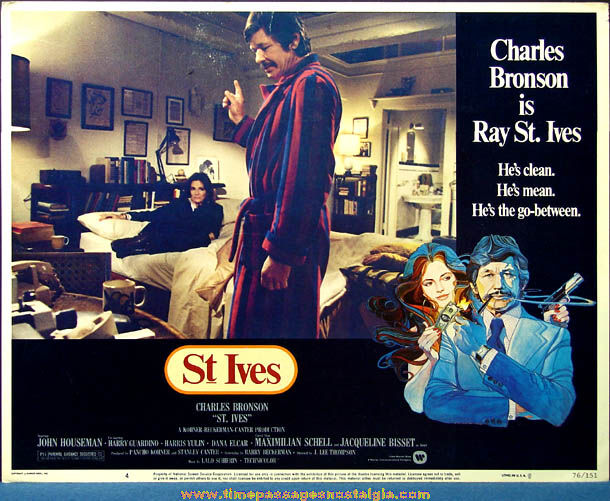 Colorful 1976 St. Ives Movie Lobby Card Poster