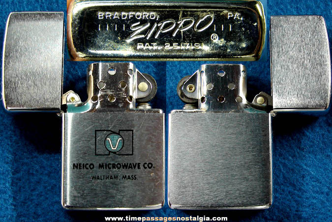 Old Unused Neico Microwave Company Advertising Zippo Cigarette Lighter