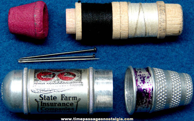 Old State Farm Insurance Company Advertising Premium Sewing Kit