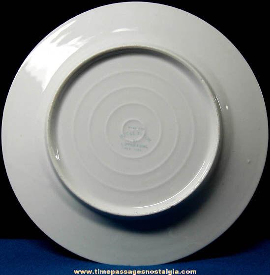 1909 Hudson Fulton Celebration Hotel Astor Advertising Souvenir Banquet Plate
