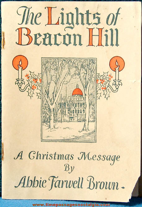 1922 The Lights of Beacon Hill - A Christmas Message Booklet