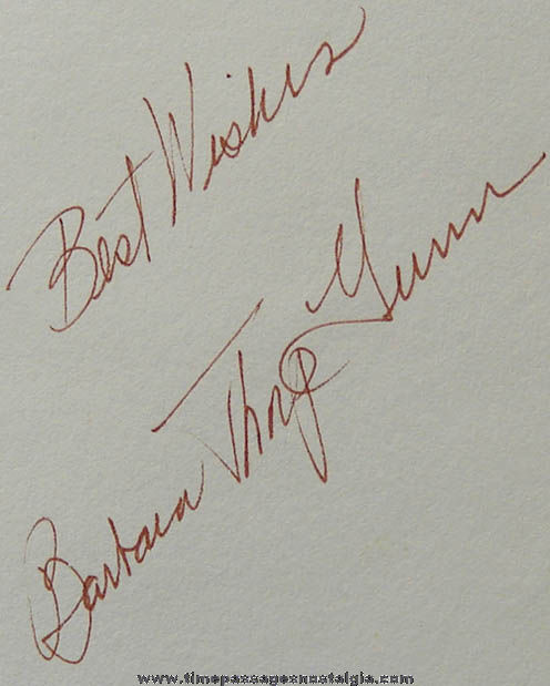 Autographed ©1980 High on A Hill Barbara Thorp Gunn Book