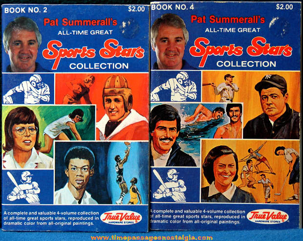 (2) Different ©1981 Pat Summerall's All Time Great Sports Stars Booklets
