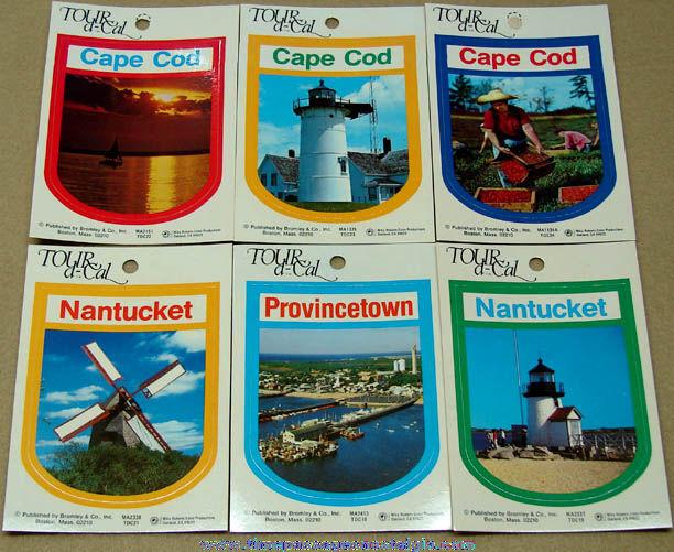 (6) Different Unused Massachusetts Advertising Souvenir Tourist Decal Stickers