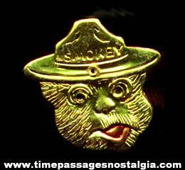 Old Smokey Bear Character Advertising Premium Toy Ring