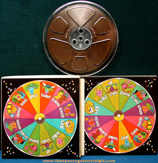 Old Unused Capitol Sound Recording Tape in Colorful Astrology Zodiac Box