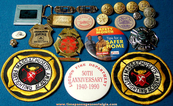 (23) Small Old Fire Fireman Firefighting & Fire Department Related Items