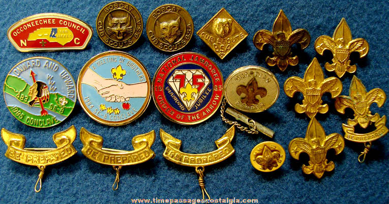 (17) Old Cub Scout and Boy Scout Emblem and Advertising Pins