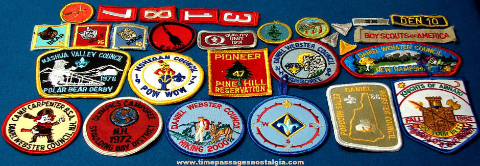(30) Different Colorful Embroidered Cub Scout Webelos and Boy Scout Cloth Patches