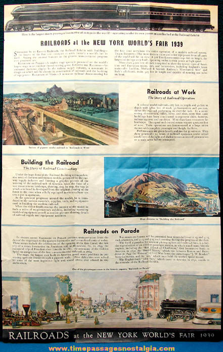 (17) 1939 - 1940 New York World's Fair Advertising and Souvenir Paper Items