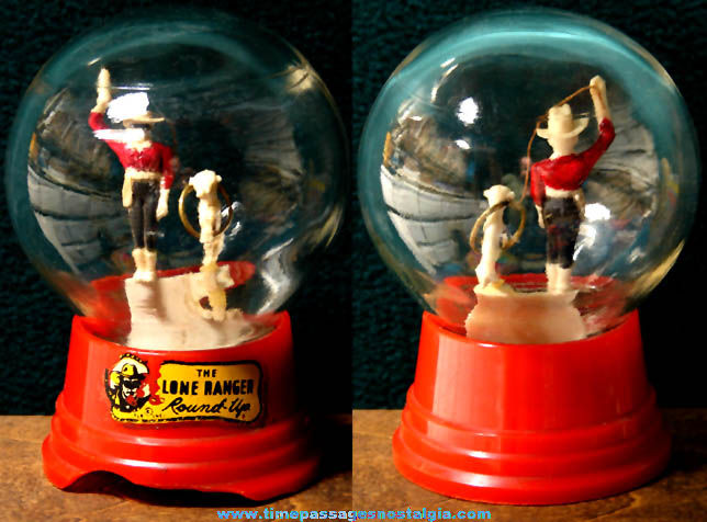 Colorful Old Lone Ranger Character Round Up Snow Globe Dexterity Puzzle