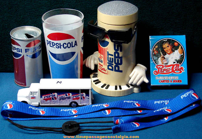 (6) Old & New Pepsi Cola Soda Advertising Items