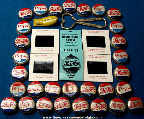 (37) Small Old Pepsi Cola Soda Advertising Items