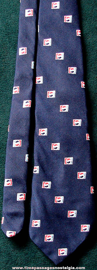 Old Pepsi Cola Advertising Logo Employee Neck Tie