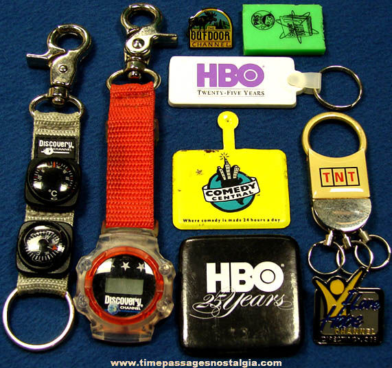 (9) Different Television Channel Promotional Advertising Premium Items