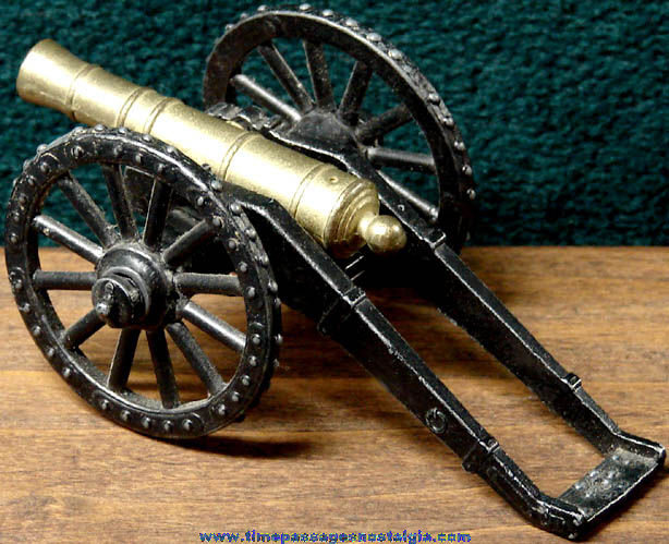 Old Miniature Metal Military Toy Cannon