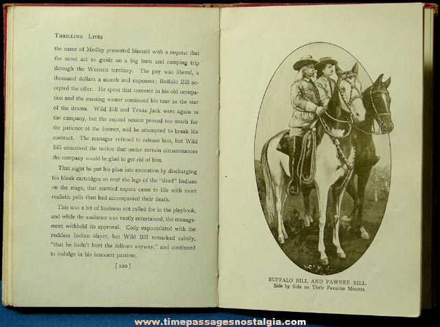 ©1911 Thrilling Lives of Buffalo Bill and Pawnee Bill Book