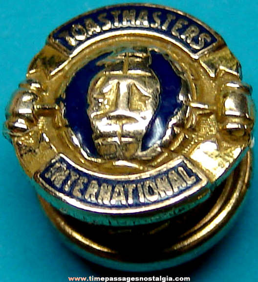 Old Toastmasters International Gold Filled Screw Back Lapel Stud Button Jewelry Pin