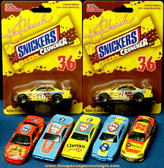 (7) Mattel Hot Wheels & Ertl Racing Champions NASCAR Advertising Toy Diecast Race Cars