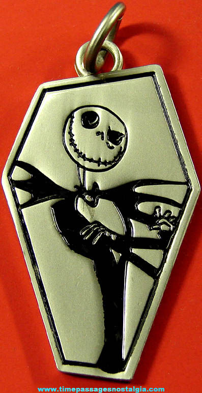 Nightmare Before Christmas Jack Skellington Character Metal Necklace Pendant Charm