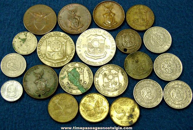 (21) Old Philippine Island Coins