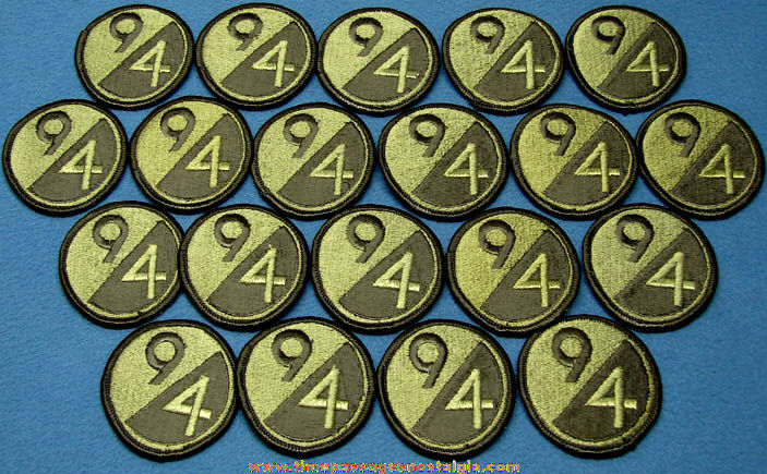 (20) Old Unused United States Army 94th Infantry Division Uniform Insignia Cloth Patches