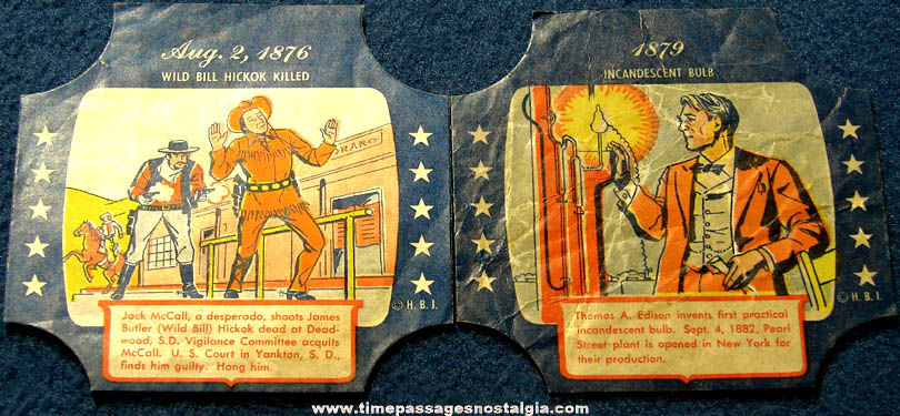 (2) Different Colorful Old Historic Bread End Labels