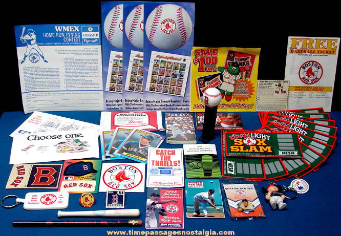 (40) Small Old & New Boston Red Sox Baseball Team Advertising Items