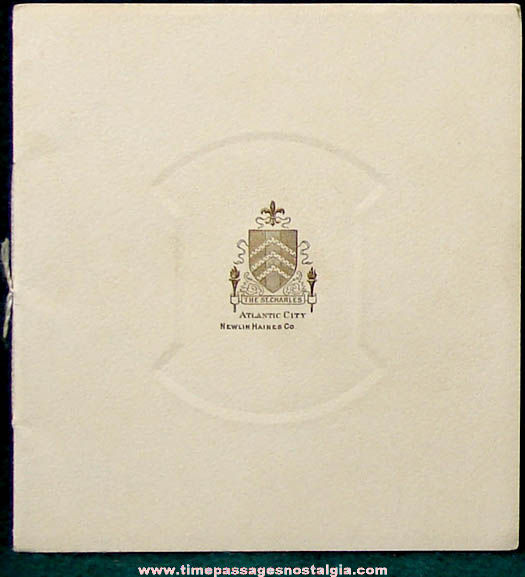 Old St. Charles Hotel Atlantic City New Jersey Advertising Souvenir Booklet