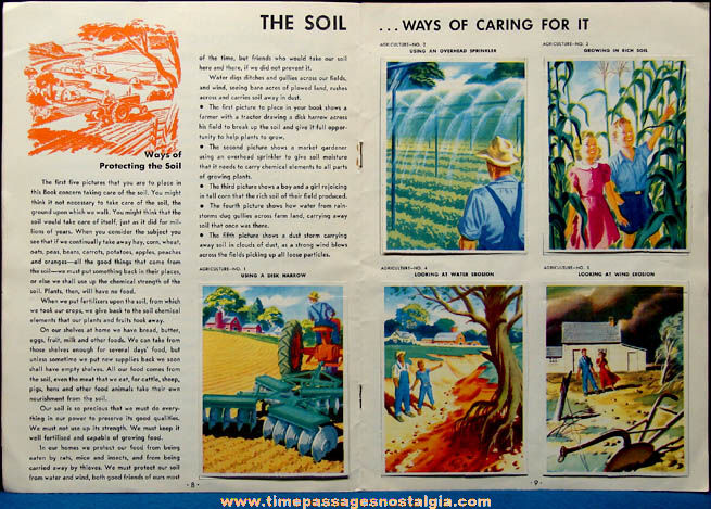 ©1949 Coca Cola Premium Our America Agriculture Booklet with (20) Colorful Cards