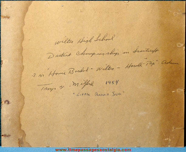 (2) Large Old New Hampshire Boy Scouts of America Photographs