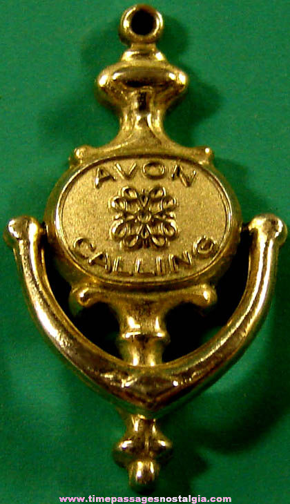 Old Avon Calling Advertising Door Knocker Employee or Award Charm