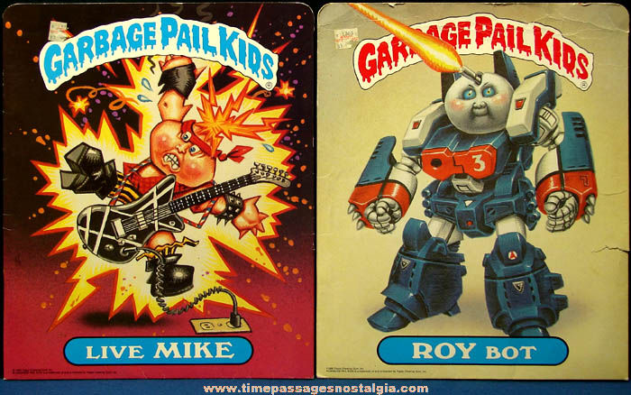 (2) Colorful ©1986 Topps Chewing Gum Garbage Pail Kids School Folders