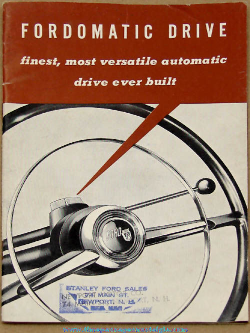 ©1952 Ford Automobile Fordomatic Drive Advertising Instruction Manual Booklet