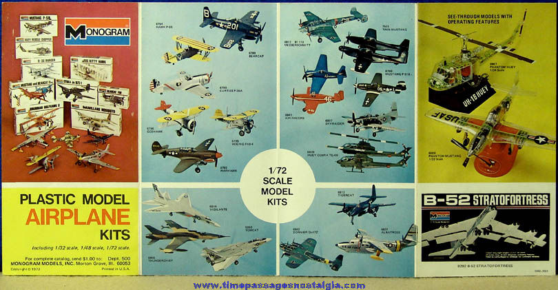 ©1973 Monogram Military Aircraft Plastic Model Kit Advertising Brochure