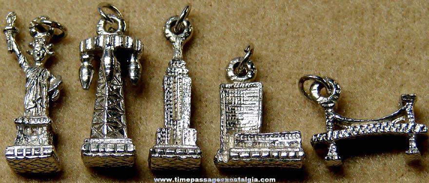 5 Diffe Old New York City Landmark Advertising Souvenir Charm Bracelet Charms