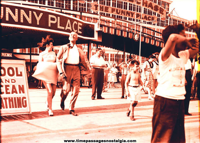 1940s Coney Island George C. Tilyou's Steeplechase Park The Funny Place Photograph Negative