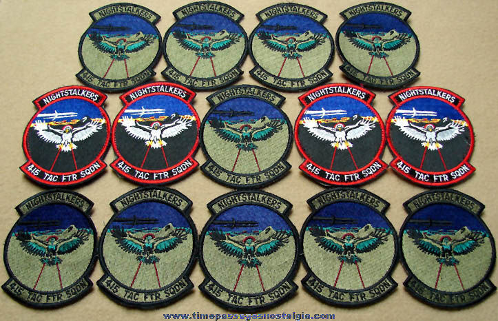 (14) Unused U.S. Air Force Nightstalkers 415th Tactical Fighter Squadron Insignia Cloth Patches