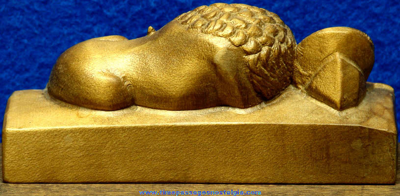 Carved Wooden Lion of Lucerne Switzerland Souvenir Statue