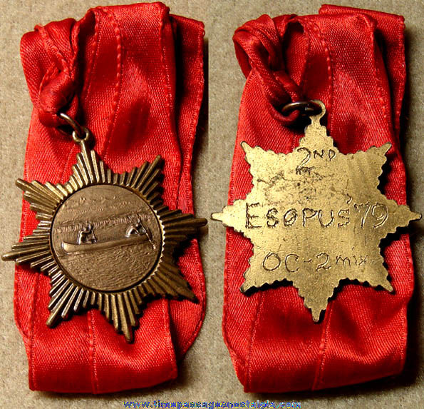 1979 Esopus Creek Catskill Mountains New York 2nd Place Canoe Award Medal