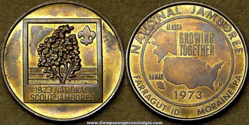 1973 Boy Scouts National Scout Jamboree Advertising Souvenir Token Coin