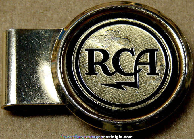 Old Radio Corporation of America RCA Advertising Money Clip