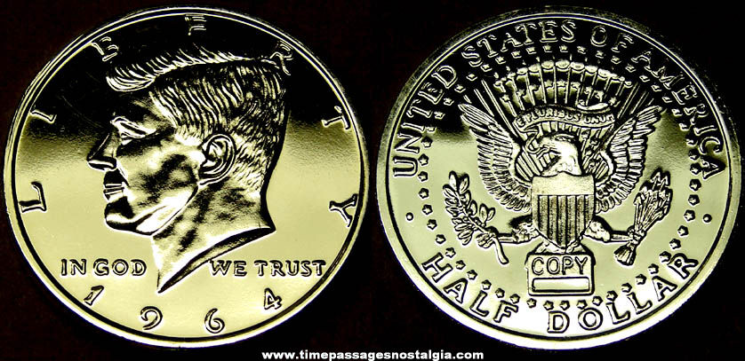 Large American Kennedy Half Dollar Medal Token Coin