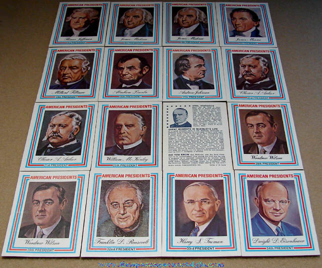(16) ©1975 United States President Trading Cards