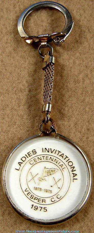 1975 Ladies Invitational Golf Centennial Advertising Key Chain